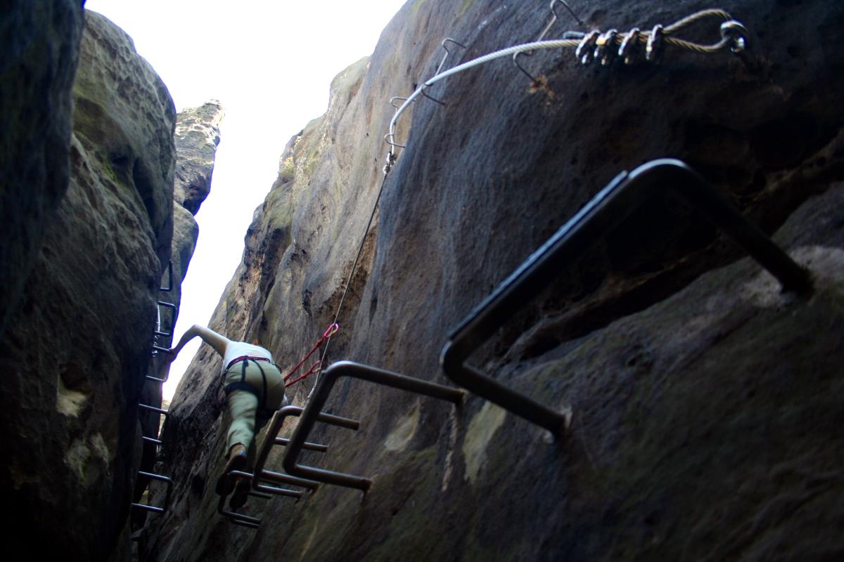 Klettersteig Sächsische Schweiz : Klettersteig villa richter de