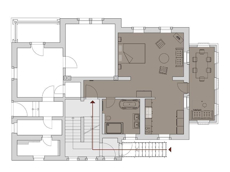 ferienwohnung gr nes gew lbe villa richter de. Black Bedroom Furniture Sets. Home Design Ideas